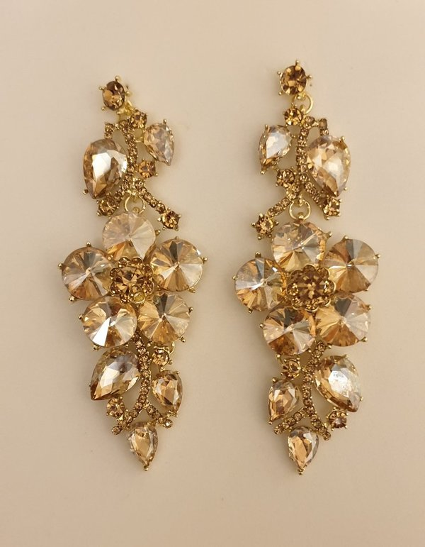 Champagne Gold 3.75 inch Earrings