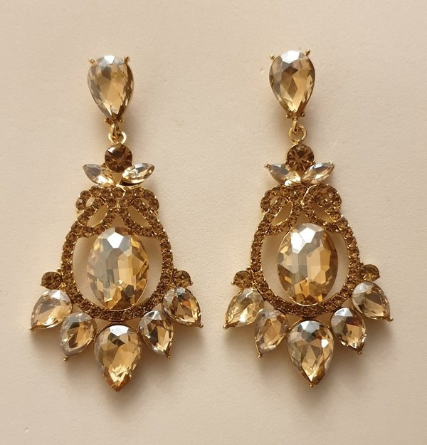 Champagne Gold 2.75 inch Earrings