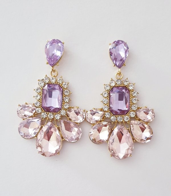 Lilac & Baby Pink 2.5 inch Earrings